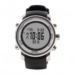 2016Men's многофункциональный 50 м водонепроницаемый смартфон спорт на открытом воздухе альпинист часы H506 с высотомер барометр термометр серебряный