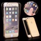 360 град. чехол для iPhone 5 5S спереди назад защитное мягкие TPU прозрачный для iPhone 5 5S 5 г с смарт-touch