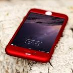Floveme i6 6 S / плюс всего тела чехол роскошные прозрачное стекло   жесткий PC чехол для iPhone 6 6 S плюс 360 град.