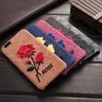 Floveme цветы чехол для iPhone 6 6 S элегантный ручной вышивки роуз кожаный чехол для iPhone 6 4.7 дюймов / 6 S мобильный телефон обложка