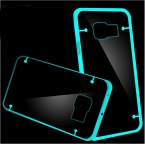 Примечание 5 световой чехол мода Slim светящиеся в тпу чехол для Samsung Galaxy примечание 5 N9200 кристально чистый прозрачный телефон