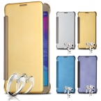 Чехол FLOVEME Note 5, золото ультра перевёрнутый зеркало чехол для Galaxy роскошь прозрачный окно кожа кобура для Galaxy Note5