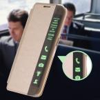 S7 / S7 край смарт-touch вид из окна искусственная кожа чехол для Samsung Galaxy S7 / S7 край флип стенд авто-сон услуга ясно боковую крышку
