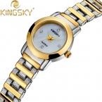 Просто кварцевые - часы AAA кристалл часы KINGSKY свободного покроя наручные часы аналоговые кварцевые для женщин часы HE8019