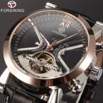Классический турбийон обернуть мужские часы лучший бренд роскошные часы с автоподзаводом золотой чехол календарь-мужчин часы черный механические часы