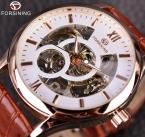 Forsining роуз дизайн коричневый мужчины часы лучший бренд класса люкс Erkek специальную скелет механические часы мужской часы Relogio Montre Homme