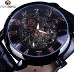 Forsining 2015 черной рамкой красный роман дисплей полые гравировка часы мужчин лучший бренд класса люкс механические часы часы мужчины Montre Homme