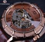 Часы-скелетоны прозрачный роман количество часы мужчины люксовый бренд механическая мужчины большое лицо часы платье стимпанк наручные часы