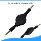 3.5 мм гибкая Стерео кабель AUX Вспомогательный Выдвижной Расширение Аудио Кабель Мужчинами Дата Кабель Для автомобиля ipod Динамик Телефона кабель
