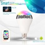 Смарт-светодиодные Лампы динамик, multi-color APP управления Bluetooth музыка беспроводной Огни Свадьба Украшения Освещение Лампа E27