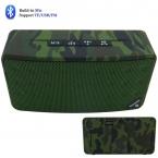 Камуфляж цвета мини Bluetooth для беспроводной динамик, Звук игра по карты памяти / USB / FM радио со съемной аккумулятор прямоугольник динамики
