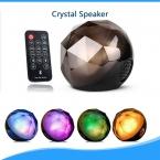 Новые bluetooth-спикер из светодиодов свет магический кристалл освещение маленький шарик динамик с дистанционным управлением беспроводной для наружного ну вечеринку