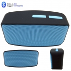 Портативный мини Bluetooth беспроводной динамик, Воспроизведения музыки по карты памяти / USB / Aux / FM радио N10 черный чехол с голубой гриль смарт-чехол динамики