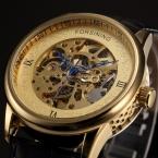 Forsining серии синий особое руки золотой обжимка - отливка чехол часы мужчины верхний марка роскошь автоматическое механический часы часы мужчины