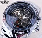 Forsining черный циферблат скелет мужские часы лучший бренд класса люкс из нержавеющей стали спортивные часы Montre Homme часы мужчины Erkek коль саати