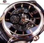 Forsining роуз чехол мода дизайнерские мужчины часы лучший бренд класса люкс часы мужчины механические часы скелет специальную Erkek Montre Homme