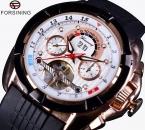 Forsining многофункциональный дата день показать роуз чехол резинкой турбийон мужские часы лучший бренд класса люкс спортивные часы