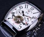 Forsining турбийон мужские часы лучший бренд класса люкс ремень из натуральной кожи мужчин свободного покроя часы механические наручные часы мужчины Erkek специальную