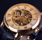 Forsining скелет 3d буквальное роман ретро дизайн мужские золотые часы дизайнерские часы роскошные наручные часы для мужчин механические часы