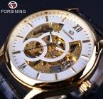 Forsining мода свободного покроя дизайн белый золотой чехол мужские часы лучший бренд класса люкс часы мужчины механические часы золотые часы мужчины Horloge