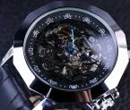 Forsining синий указатель китайский дракон элемент неправильной формы мужские дизайнерские часы роскошный автоматический часы-скелетоны Erkek специальную