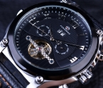 Forsining турбийон классический дизайн кожаный ремешок часы мужские часы лучший бренд класса люкс автоматические свободного покроя часы часы мужчины