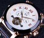 Forsining 2016 серии ремень из натуральной кожи спортивные свободного покроя стиль роуз чехол мужчины часы лучший бренд класса люкс автоматические часы часы