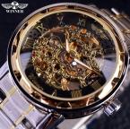 Прозрачные золотые часы мужчины часы лучший бренд класса люкс Relogio мужских часов мужчины свободного покроя часы Montre Homme механические часы-скелетоны