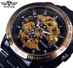 Победитель ретро классический масштаб золотой чехол малый набор Relogio Masculino мужские автоматические часы лучший марка роскошные наручные часы