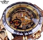 Победитель новый номер спорт дизайн лицевой золотые часы мужские часы лучший бренд класса люкс Montre Homme часы мужчины автоматический часы-скелетоны
