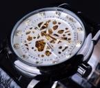 Победитель скелет дизайн мужчины автоматические часы Erkek саат Relogio мужской часы Reloj хомбре Montre роскошные белого золота мужские часы