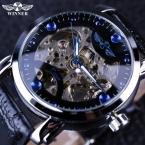 Победитель черный синий циферблат часов лучший бренд класса люкс скелет механические часы с автоподзаводом классический дизайнерские часы мужчины наручные часы