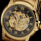Победитель швейцарские часы королевский резьба черное золото скелет чехол Orologi Uomo Uhren автоматические механические часы Relojes пункт