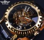 Победитель Avitor серии передач рамка мода свободного покроя мужчины наручные часы золотые часы мужчины роскошные часы мужчин автоматические Erkek коль саати