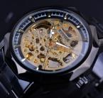 Победитель полигон шатона цветок скелет дизайн часы мужчины люксовый бренд автоматическая золотые часы мужчины из нержавеющей стали часы мужчины