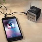 В наличии 1 шт. черный алюминиевый сплав портативный микро-tf USB мини-стереосистема fm-плеера радио пк MP3 / 4