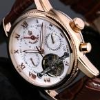 2015 Orkina золото выросли белый месяц дата день автоматическая мужские часы лучший бренд класса люкс автоматические часы