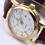 Золото мужской часы мужчины коричневый аналоговый платье из натуральной кожи пояс Montre Homme мужчины роскошные кварцевые часы Reloj хомбре Relogio Masculino