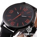 Orkina черный мужской часы мужская кожа мода Relogio Esporte Masculino свободного покроя спорт кварцевые стимпанк наручные часы открытый часы