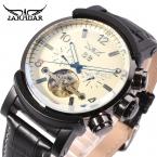Jargar новая автоматическая мужчины мода турбийон металл черный цвет наручные часы бесплатная доставка JAG9405M3B2