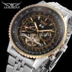 Jargar JAG034M4T2 автоматический мода платье наручные часы серебряные часы с стальной браслет для мужчин горячая распродажа бесплатная доставка