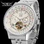 Jargar JAG034M4S1 автоматический мода платье наручные часы серебряные часы с стальной браслет для мужчин горячая распродажа бесплатная доставка