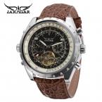 Jargar мужские часы роскошь бизнес марка автоматический турбийон аналоговый наручные часы цвет коричневый JAG212M3S5