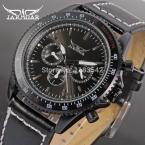 Jargar новое деловой стиль черный циферблат 6 руки военных спортивные часы из натуральной наручные JAG6010M3B1