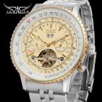 Jargar JAG034M4T1 автоматический мода платье наручные часы серебряные часы с стальной браслет для мужчин горячая распродажа бесплатная доставка