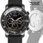 Jargar JAG6066M3B2 новые люди автоматические мода часы черный наручные часы для мужчин с силиконовой лентой лучший подарок бесплатная доставка