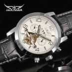 Jargar новая автоматическая мода платье часы с турбийоном серебристый цвет для мужчин с ума продаж бесплатная JAG165M3S1