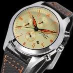 Jargarjag6904m3s2 новые люди автоматические мода платье часы серебристый цвет наручные часы с черный кожаный ремешок бесплатная доставка