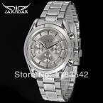 Jargar JAG6055M4S2 новые люди автоматические мода платье наручные часы серебряный цвет стальной браслет бесплатная доставка