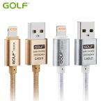 100% Первоначально ГОЛЬФ 25 см 1 м 1.5 м 2 м 3 м Металл Плетеный USB Синхронизации Данных зарядный Кабель Для iPhone 6 Плюс 5 5S iPad 4 Air 2 Зарядка провода